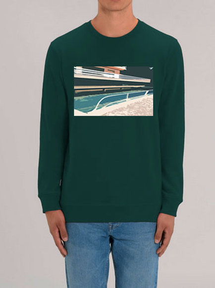 "Sweat-shirt ""Swimming pool""homme"