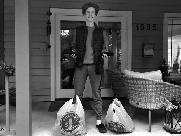 Luke After packing 160 socks!