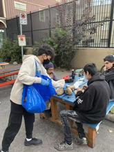 Handing Out Meals!