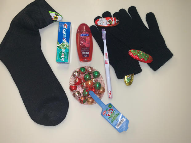 Sockings with Personal Hygiene Products