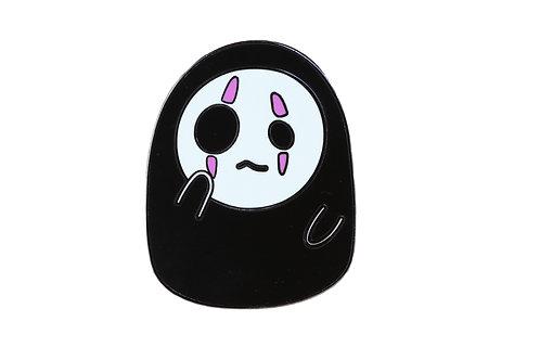No Face DERPY Emoji Hard Enamel Pin