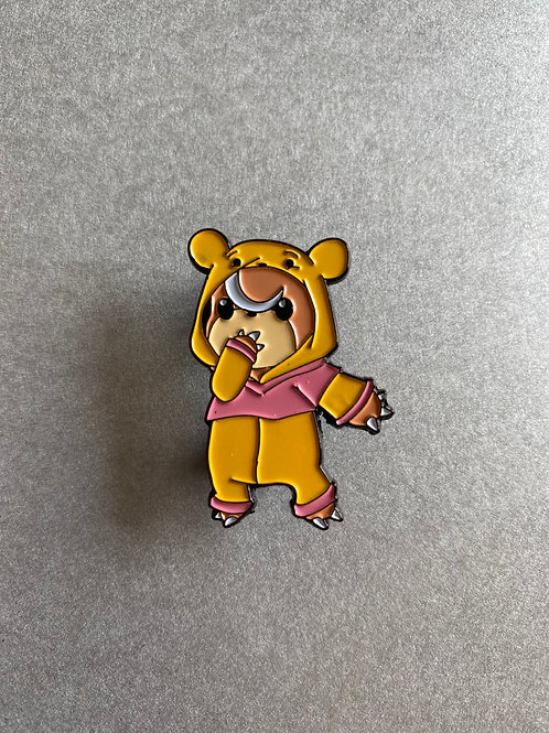 CLEARANCE PIN - Teddiursa cosplay Winnie the Pooh