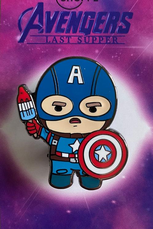 Captain America Hard Enamel Pin