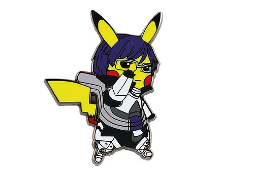 Pikachu as Ida Tenya Hard Enamel Pin