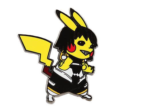 Pikachu as Hanta Sero Hard Enamel Pin