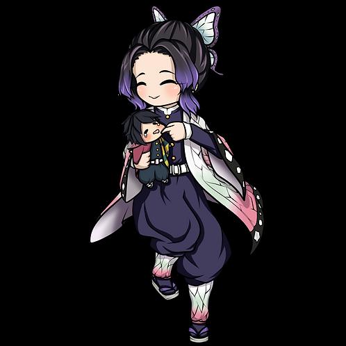 Shinobu holding Giyuu plush