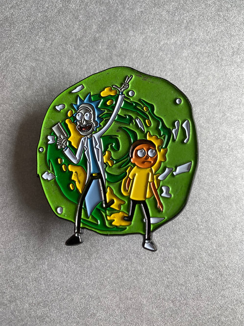 CLEARANCE PIN - Rick and Morty - Glow in the dark