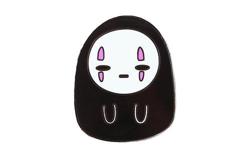 No Face Salty Emoji Hard Enamel Pin