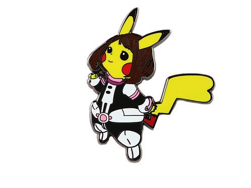 Pikachu as Ochaco Uraraka Hard Enamel Pin