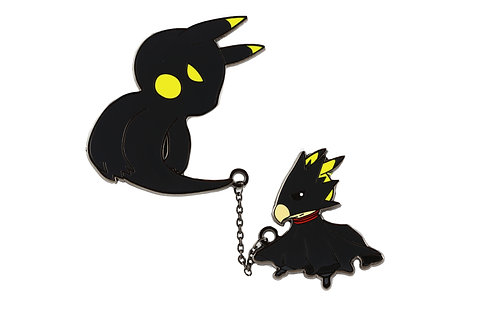 Pikachu as Fumikage Tokoyami Hard Enamel Pin