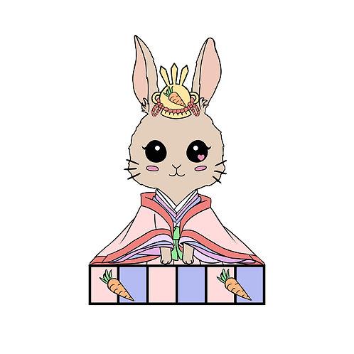 Rabbit Zodiac Hina Doll