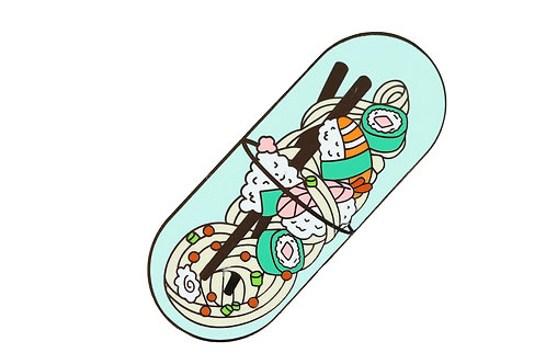 Japanese Foodie Pill Hard Enamel Pin