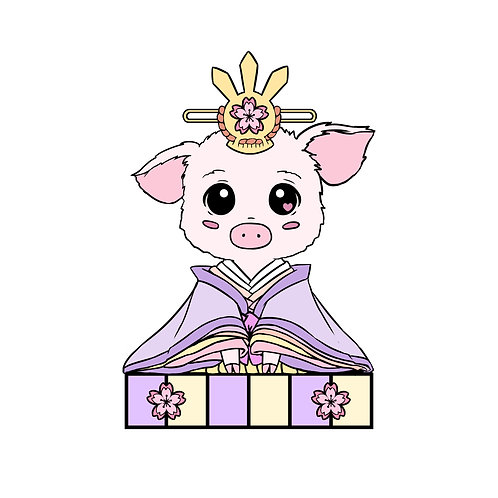 Pig Zodiac Hina Doll