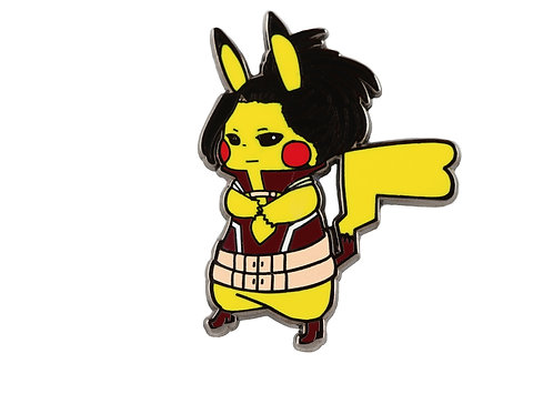 Pikachu as Momo Yaoyorozu Hard Enamel Pin