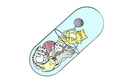 Cats and Kittens Pill Hard Enamel Pin