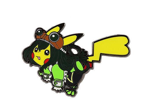 Pikachu as Froppy Hard Enamel Pin