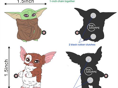 Baby Yoda Tug of War with Gizmo