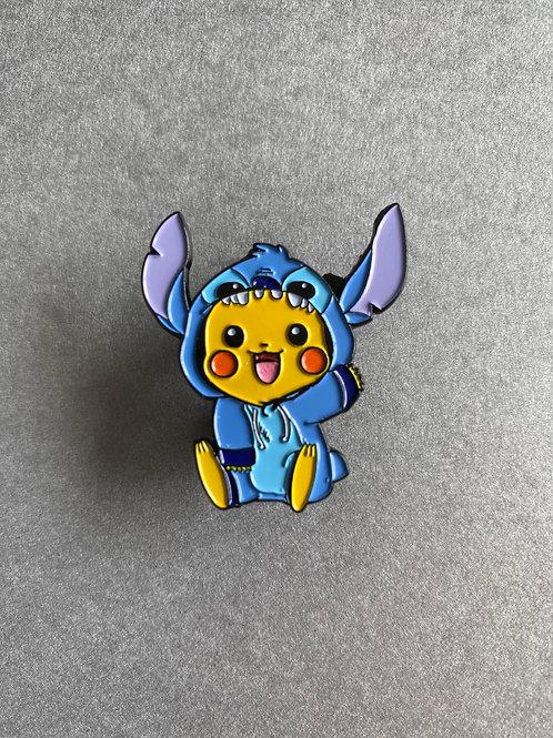 CLEARANCE PIN - Pikachu cosplay Stitch
