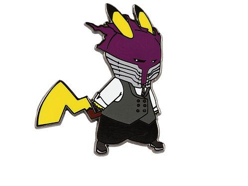 Pikachu as Kurogiri Hard Enamel Pin