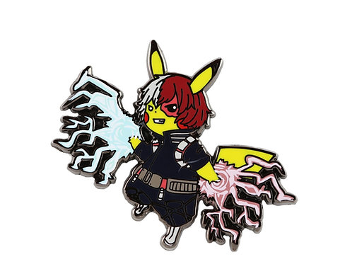 Pikachu as Todoroki Hard Enamel Pin