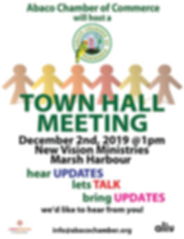 Abaco Chamber of commerce twon hall meeting