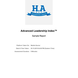 Advanced Leadership Index Assessment