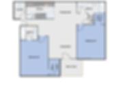 2 bedroom, 2 bathroom brand new apartment