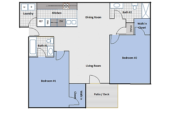 2 bedroom, 2 bathroom brand new apartment