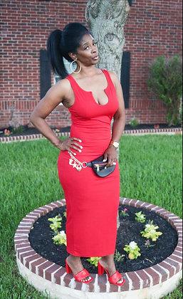 BLAZING RED DRESS