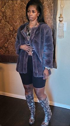 Gray Baby Faux Fur