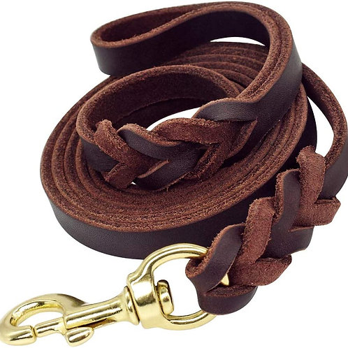 "Leather Leash 6ft 5/8"""