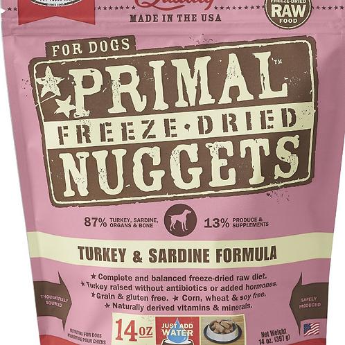 Primal Foods: Turkey/Sardine Nuggets 14oz