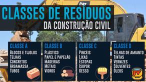 Classes de resíduos da construção civil - Planilha de PGRCC grátis (Excel e PDF)