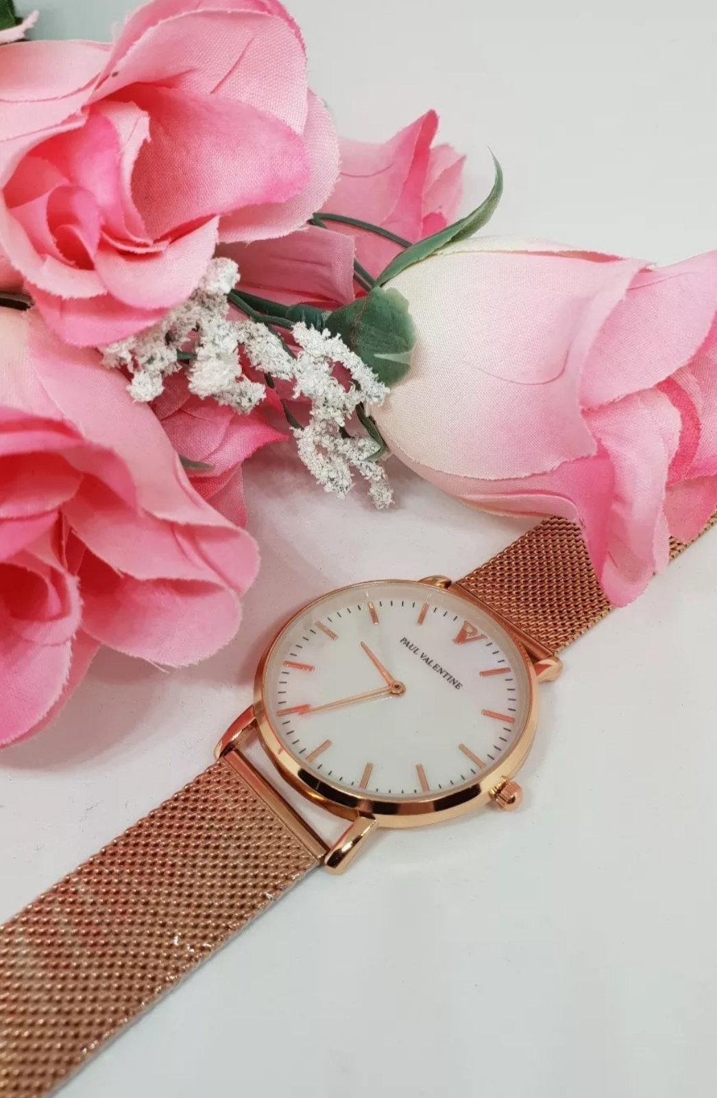 Rose Gold Paul Valentine Watch 925sense