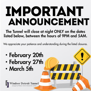 Upcoming Tunnel Closures