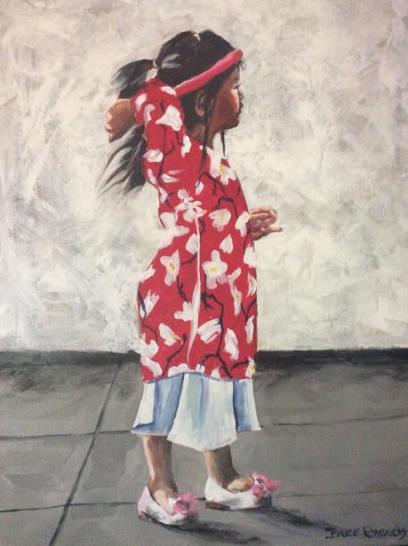 Hanoi Dancer acrylic on canvas