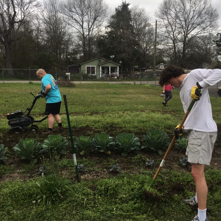 Community Garden Project at the center sponsored by Indian Springs Cooperative Garden Project