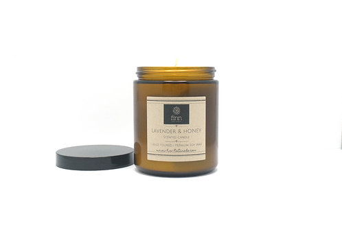 Lavender & Honey Scented Soy Candle