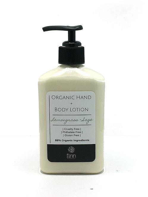 Organic Hand + Body Lotion - Lemongrass + Sage