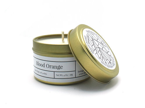Blood Orange Scented Soy Travel Candle