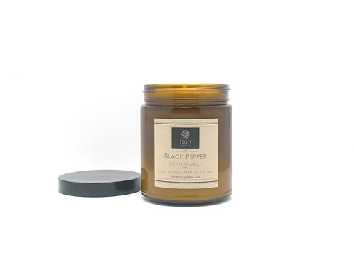 Black Pepper Scented Soy Candle