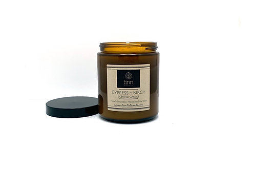 Cypress + Birch Scented Soy Candle