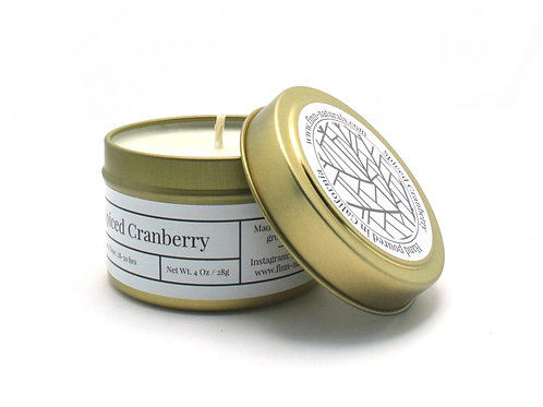 Spiced Cranberry Scented Soy Travel Candle