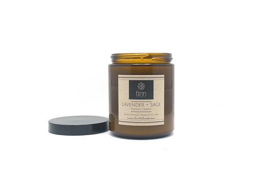 Lavender & Sage Scented Soy Candle