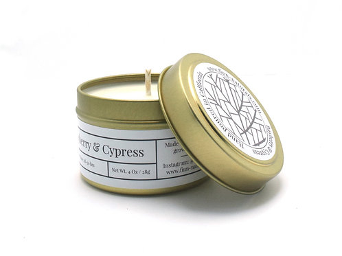 Bayberry & Cypress Scented Soy Travel Candle