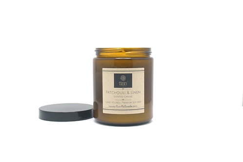 Patchouli & Linen Scented Soy Candle