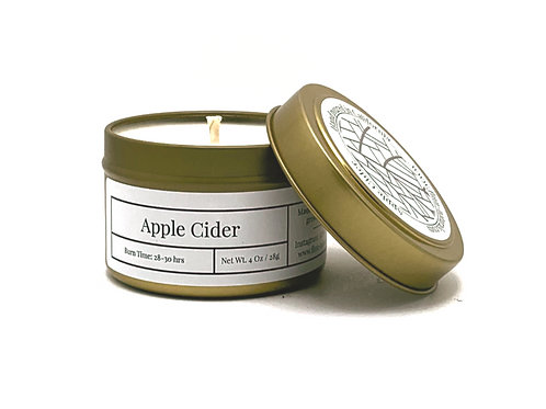 Apple Cider Scented Soy Travel Candle