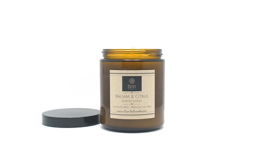 Balsam & Citrus Scented Soy Candle