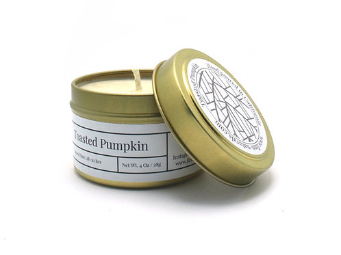 Toasted Pumpkin Scented Soy Travel Candle