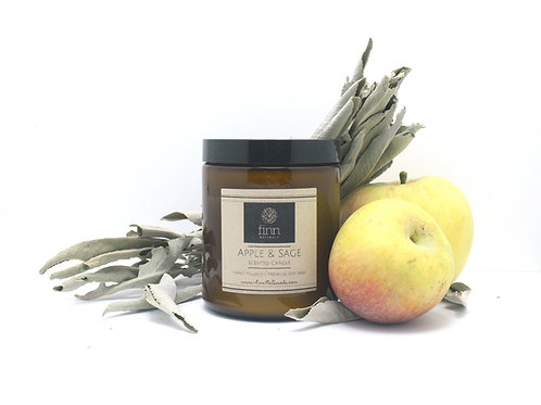 Apple & Sage Scented Soy Candle